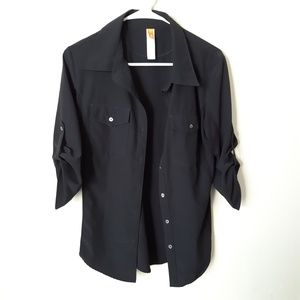 Lucy MEDIUM roll tab sleeve  button down blouse